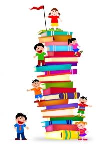 Kids_Climb_A_Stack_Of_Books